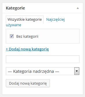 Dodawanie kategorii w WordPressie