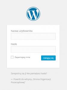Rejestracja użytkownika w WordPressie