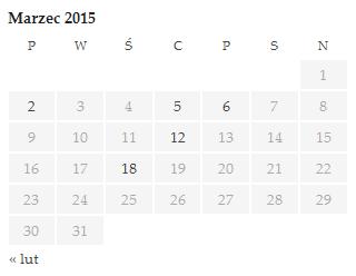 Widget Kalendarz