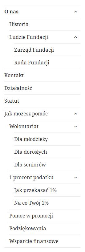 Menu wielopoziomowe w WordPressie